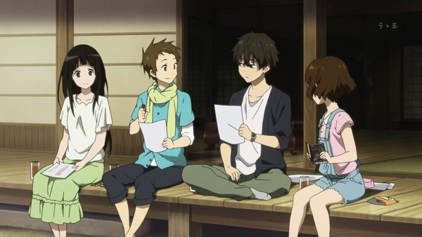 Hyouka 4: It's more fun with more people, too.